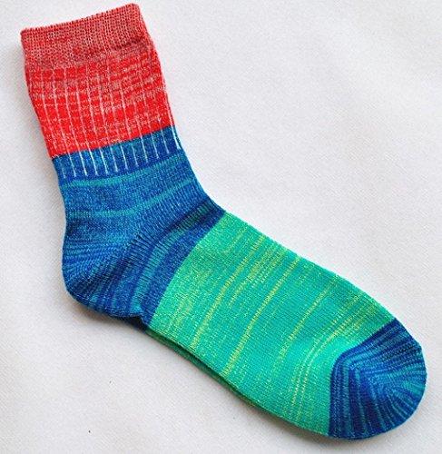 Sagton Dames Regenboog Kleur Dikke Warme Sokken Winter Mode Crew Boot Sokken Rood