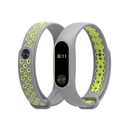 Correas para xiaomi Band 2, ☀️Modaworld Durable Pulsera Deportiva TPU de Repuesto para Xiaomi Mi Band 2 Correa de Reloj Elegante Reemplazo de Bandas ...