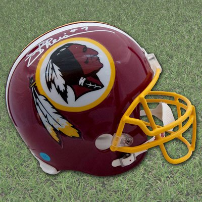 (AJ Sports World Joe Theismann Washington Redskins Autographed Full Size Replica Football Helmet)