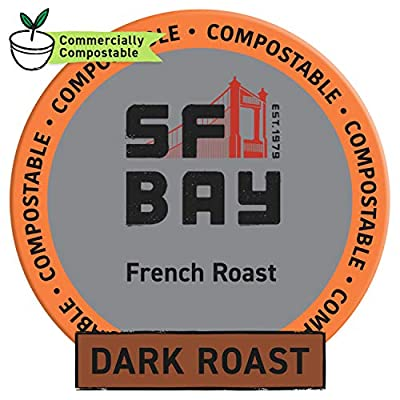 SF Bay Coffee Breakfast Blend Medium Roast Compostable Coffee Pods, K Cup Compatible including Keurig 2.0 from SAN FRANCISCO BAY
