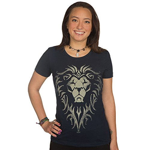 JINX Warcraft Movie Women's Alliance Logo Premium Cotton/Poly T-Shirt