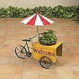 ice cream planter - 20 Inch Metal Ice Cream Cart Welcome Garden Planter Flower Pot Stand - Outdoor Decoration
