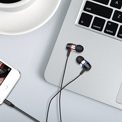 Earbuds Stereo Earphones In-Ear Headphones Earbuds with Microphone Mic and Volume Control Noise Isolating Wired Ear buds For iPhone Android Phone iPad Tablet Laptop(Black) by Gsebr (Image #6)