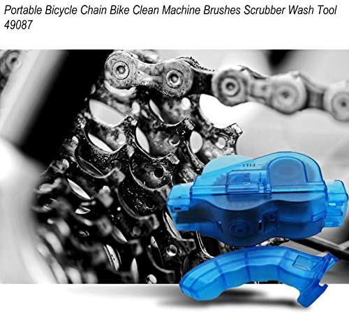 Blue GreceMonday Portable Bicycle Chain Cleaner Bike Clean Machine Brushes Scrubber Wash Tool Mountain Cycling Cleaning Kit Outdoor Sports