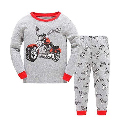 Little Boys Pajamas Toddler Pjs Clothes Harley Motorcycle Sleepwear 100% Cotton Long Sleeve 2 Piece Sets Outfits Kids 1-7T -