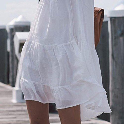 Maillot Femmes Robe Courte Robe V Blouse Mini Sexy by Plage de Robes Cou t Printemps Plage de Maillot Sexy LHWY Bain Femmes Bohme Bain Robe de Sexy Robe OYxwtxgq0a