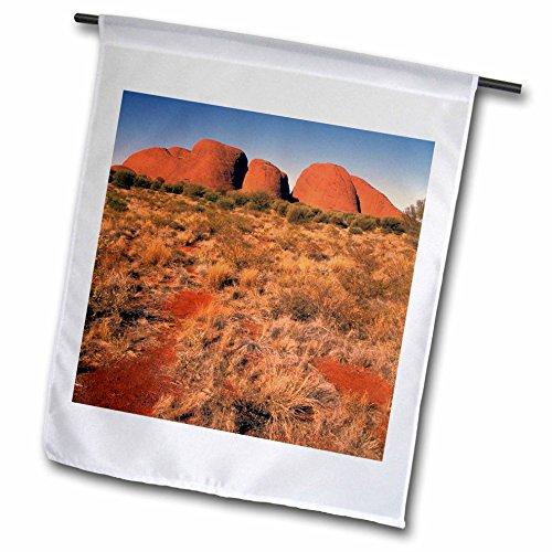 3dRose fl_69872_1 Australia, Uluru Kata Tjura, Outback, The Olgas-AU01 BBA0115-Bill Bachmann Garden Flag, 12 by 18-Inch