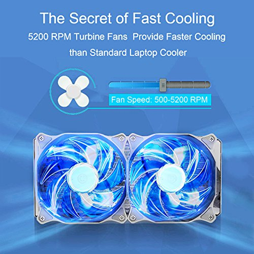 COOCHEER Laptop Cooling Fan Vacuum Cooler with Digital Display,Auto-Temp Detection,Rapid Cooling,USB Power Supply,Perfect for Gaming Laptop Cooler,Support 12-17 Inch Laptops,Black by COOCHEER (Image #2)