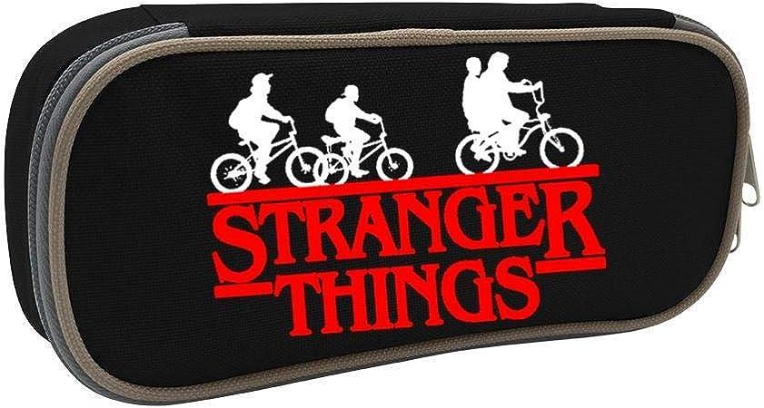 Stranger Things Logo Students Canvas Pencil Case Durable Pen Bag with Zipper: Amazon.es: Oficina y papelería