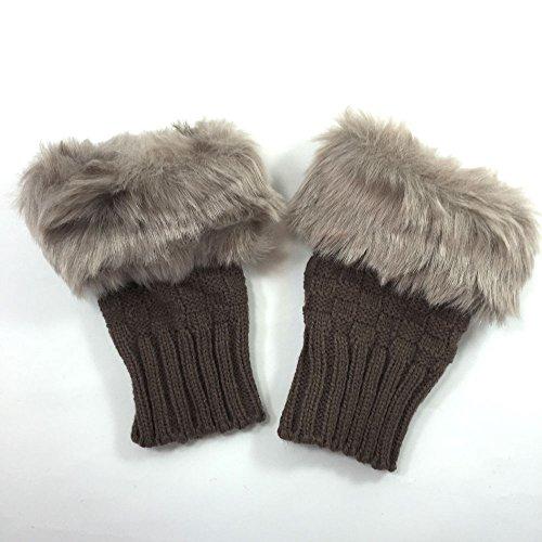 (HAPI&Co) フェイクファー 付 指なし 手袋 レディース スマホ