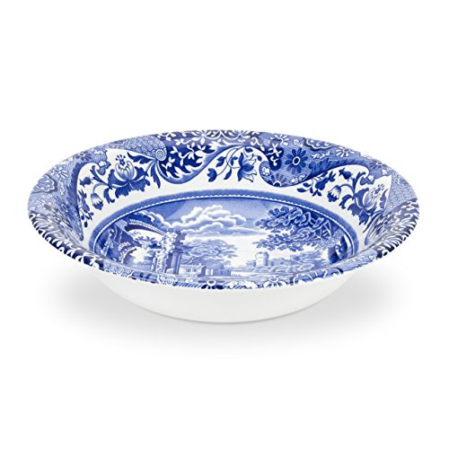 Spode Blue Italian Cereal Bowl, Set of 4 (Renewed)
