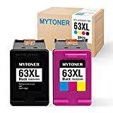 MyToner Remanufactured Ink Cartridge for HP 63 XL 63XL High Yield (1 Black/1 Tri-Color) Compatible with HP Envy 4520 4512 4516 Officejet 4650 3830 3833 4655 Deskjet 1112 2130 2131 3630 3633 3634
