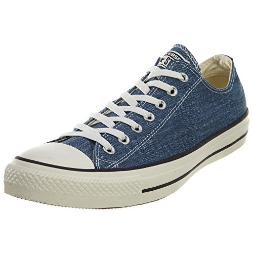 Converse Chuck Taylor All Star OX Washed Canvas Low Top Sneakers 147038F Navy 9 D(M) US Men / 11 B(M) US Women