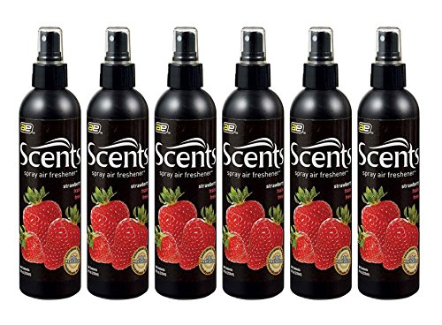 Auto Scent (Auto Expressions Scents Strawberry Air Freshener Spray (8 oz) - 6 Pack)