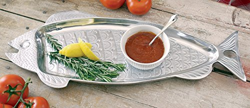 "picture of Huge 22"" Aluminum Fish Serving Tray by KINDWER"