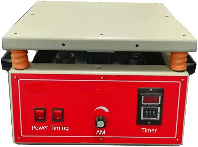 KUNHEWUHUA Electromagnetic 400x350mm Vertical Vibration Test Table 50HZ 3000times//min Fixed Frequency Vertical Vibration Table 0-5mm Vibration Amplitude Adjustable 220V