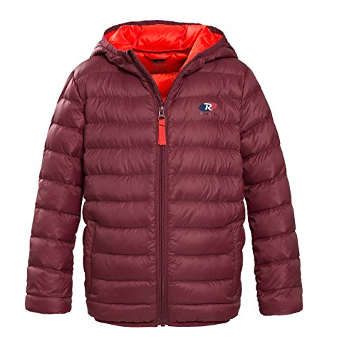 Rokka&Rolla Boys' Ultra Lightweight Hooded Packable Puffer Down (Boys Puff Jacket)