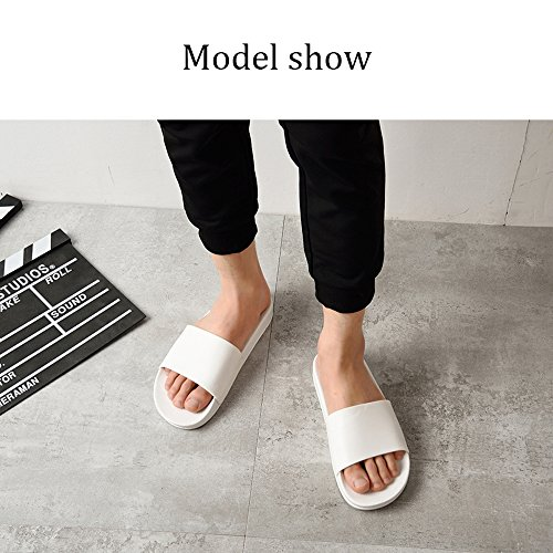 Water Beach Pool 1068 Bastolive Shoes White for Womens Mens Shower Slippers Sandals Slides ZxntA1xwv