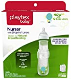 #9: Playtex Baby Nurser Bottle with Drop-Ins Disposable Liners Closer to Breastfeeding with Hot Air Balloon Graphics, 8 Ounce - 3 Pack