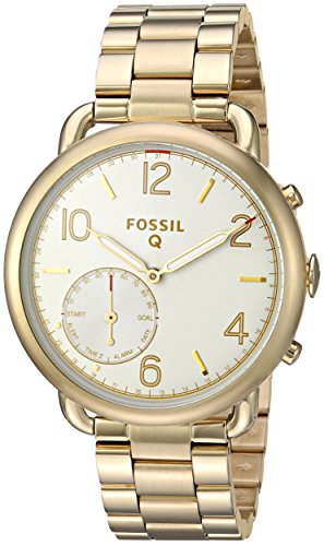 - Fossil Hybrid Smartwatch - Q Tailor Gold-Tone Stainless Steel