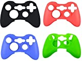 Xbox 360 Case Soft Silicone Protective Skin Case Cover for Xbox 360 Controller Rubber Protector Shell Case for Xbox 360 Gamepad(4 pcs)