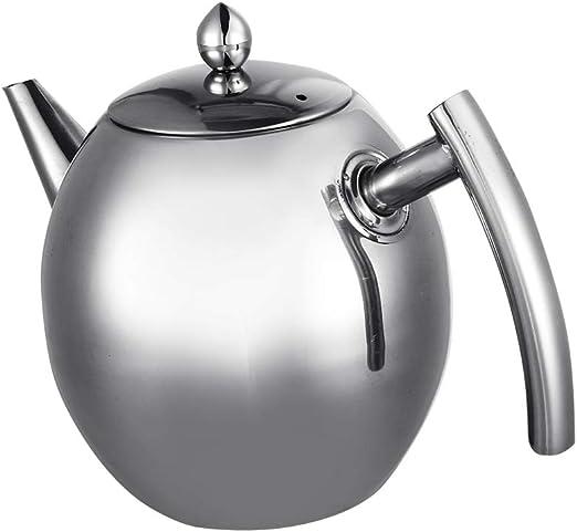 Hervidor de agua, tetera de acero inoxidable, fácil de limpiar ...