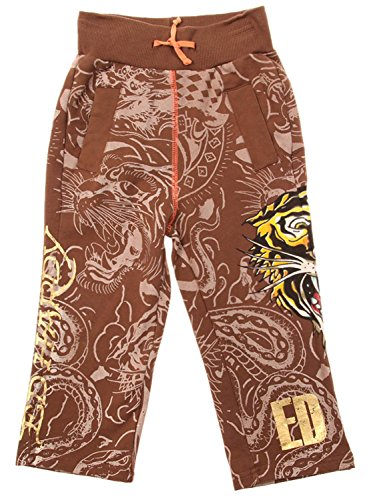 Ed Hardy Toddler Little Boys' Sweatpants-Brown - 5/6