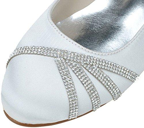 Nice 5 36 Find Femme Sandales Compensées EU Blanc Blanc 6cwpZ