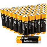 Silicon Power AA Household Alkaline Batteries 40 Count, Bulk-Packaging