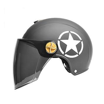 Cascos Protector solar Casco de moto/Hombres y mujeres Casco universal/Casco de cuatro