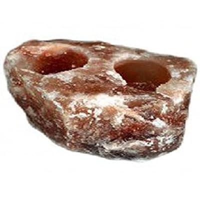 Black Tai Salt Co.'s 100% HIMALAYAN SALT 2 HOLE Candle Holder Pack!