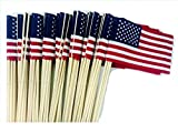 Cheap Lot of -100- 4×6 Inch US American Hand Held Stick Flags No Tip WindStrong Made in the USA