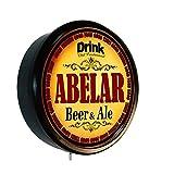 ABELAR Beer and Ale Cerveza Lighted Wall Sign