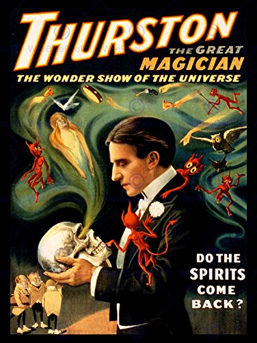 THEATRE VAUDEVILLE THURSTON MAGIC STAGE SHOW USA VINTAGE POSTER ART PRINT 12x16 inch 30x40cm ()