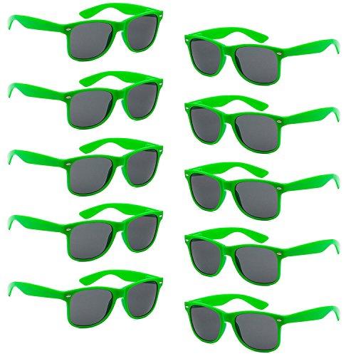 Protection complète 10 pièce Vert Lunettes pièces 10 Pièces 10 polarisées de Non FSMILING Unisexes Bleu UV400 Soleil qX0BzwzT