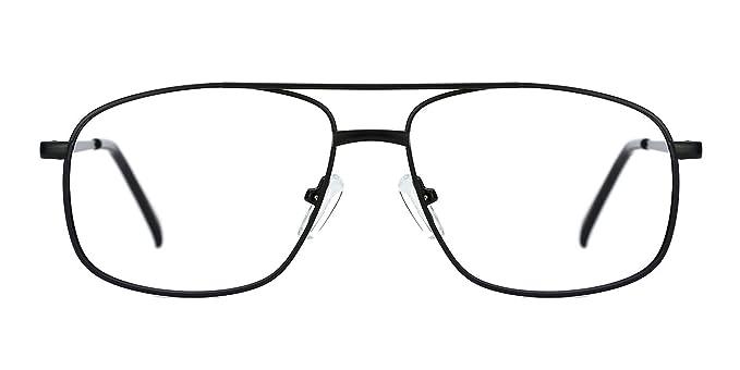 0ee58e7f95 TIJN Retro Aviator Eyeglasses Frame for Men Non-prescription Lens Metal Frame  Eyewear  Amazon.co.uk  Clothing