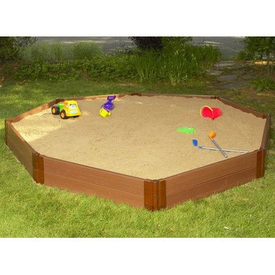Frame It All One Inch Series Composite Octagon Sandbox Kit, 10' x 10' x 11'' by Frame It All