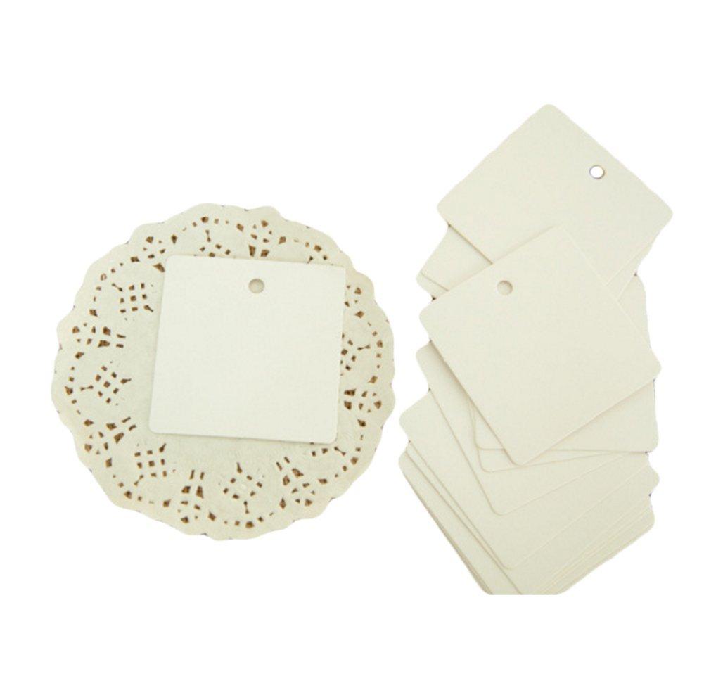 handbemalt 100 St/ück kleine Etiketten Kleidungsmarken Leisial-Papier-Lesezeichen quadratisch