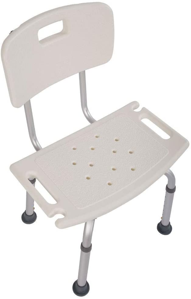 Mefeir FDA 450LBS Medical Shower Chair Bath Seat,Upgraded Aluminum Legs Stool Transfer Bench SPA Bathroom Bathtub Chair Home No-Slip Safety Adjustable 7 Height(with Back) 51deZOHSLML