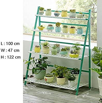 SED Estante Decorativo Interior y al Aire Libre Sala de Estar Planta Ahorro de Espacio Soporte para Maceta Soporte de Flor Planta de Maceta de Madera Exhibición de Plantas Escalera Jardinera Estante: