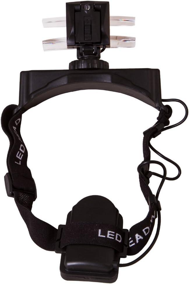 2,5X Levenhuk Lente Frontale con LED Zeno Vizor H7 Lente d/'Ingrandimento Frontale con Ingrandimento 1x 2X 8X per Lavori di Precisione 3,5X 1,5X