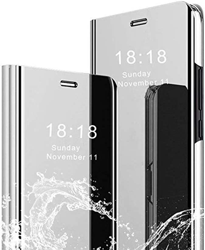 TANYO Case Compatible with Samsung Galaxy Note20 Ultra Black Perspective Mirror Fashion Ultra-Thin Smart Flip Phone Cover