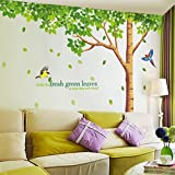 Best Wishes Stickers - MF@Green Wish Tree Leaves And Flying Birds DIY Review