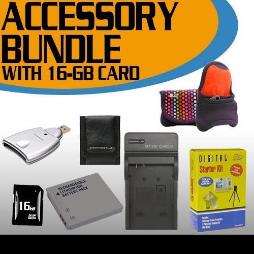 Canon SD1400IS Accessory Saver Bundle 16GB Memory Card + Extended Life Battery + USB Card Reader + Deluxe Camera Case + Accessory Saver Bundle