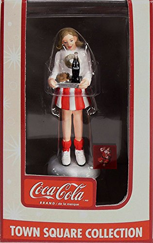 Coca Cola Town Square Collection Cheerleader with Tray & Coke Accessory #CG248801