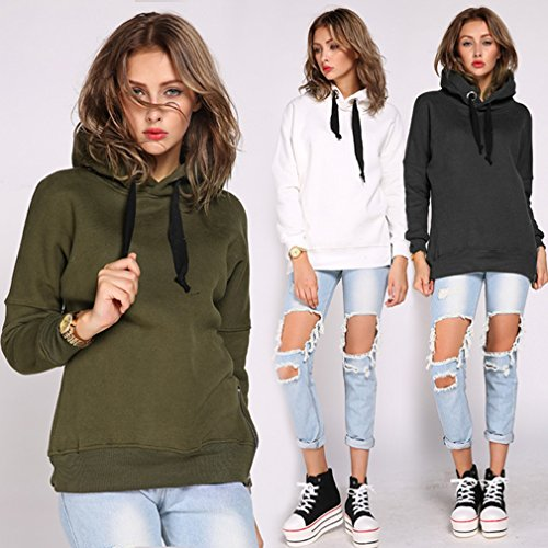 Classic Update Hoody (Iumer Women's Long Sleeve Pocket Pullover Hoodie Hoods Loose Sets of Sweater Jacket Plus Size S-4XL)