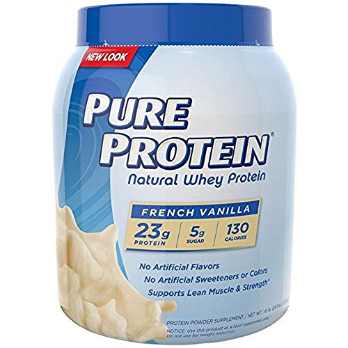 Pure Protein 100 Whey Protein, Vanilla Cream, 1.6 Pound Tub