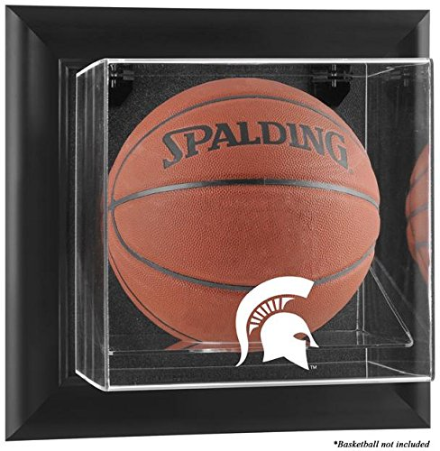 (Michigan State Spartans Framed Wall Mountable Basketball Display Case)