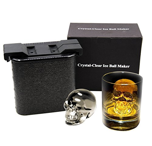 Crystal-Clear Ice Cube Maker - Ice Cube Spheres Whiskey Tray Mold Maker, Ice Tray (Skull)