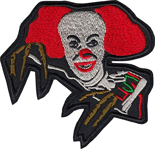 Scary Clown - Embroidered Iron on Patch]()